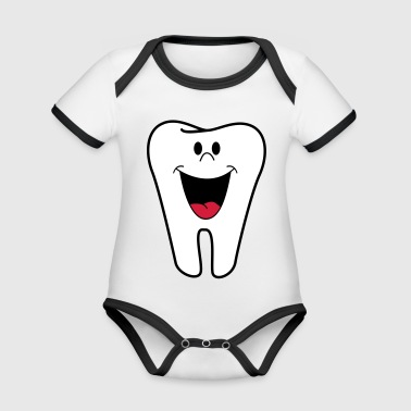 tooth - Organic Baby Contrasting Bodysuit