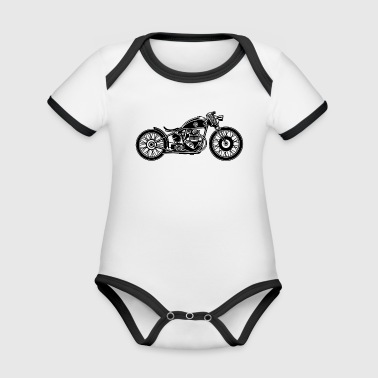 Chopper / Bobber motorcycle 09_black - Organic Baby Contrasting Bodysuit