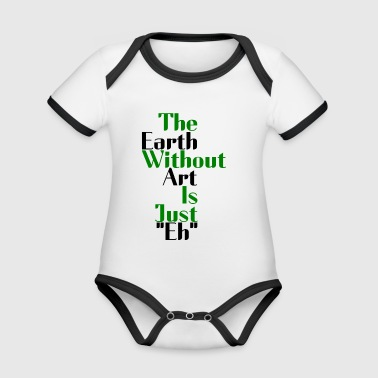 the earth - Organic Baby Contrasting Bodysuit
