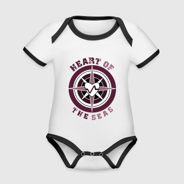 HEART OF THE SEAS - Organic Baby Contrasting Bodysuit