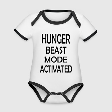 HUNGER BEAST MODE ACTIVATED - Organic Baby Contrasting Bodysuit