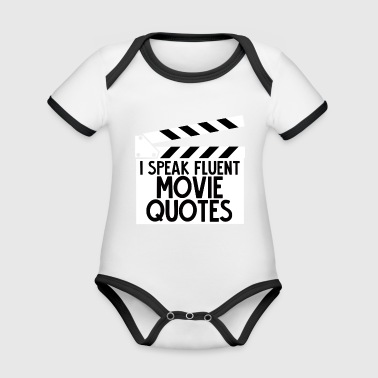 Sarkasme - Movie - Quotes - Gave - Kortærmet ækologisk babybody i kontrastfarver