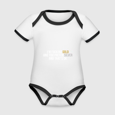 Gold silver relationship gingerbread hipster - Organic Baby Contrasting Bodysuit
