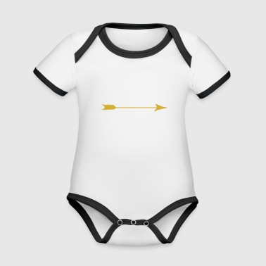 I Love My Wife With Tribal Arrow Romantic - Organic Baby Contrasting Bodysuit