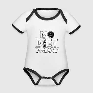 No Diet Today - Organic Baby Contrasting Bodysuit