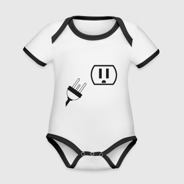 Power outlet plug - Organic Baby Contrasting Bodysuit