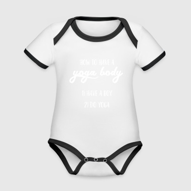 Yoga - Healthy - Fit - Body - Gift - Organic Baby Contrasting Bodysuit