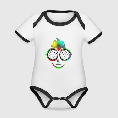 Golf Ball Sunglasses Summer Gift Golf Shirt - Organic Baby Contrasting Bodysuit