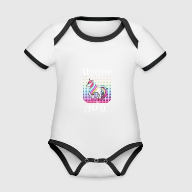 The most beautiful unicorns are born in June - Organic Baby Contrasting Bodysuit