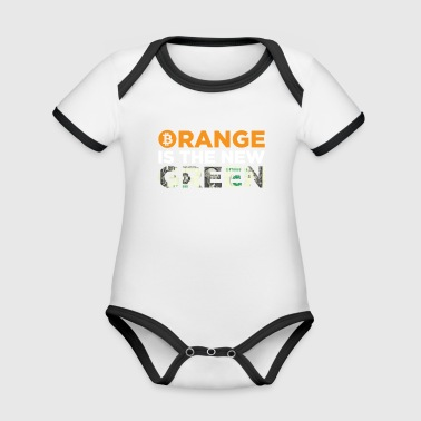 Orange Is The New Green Bitcoin Dollar Blockchain - Organic Baby Contrasting Bodysuit