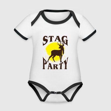 Stag Party JGA - Bachelor Party - Gift - Organic Baby Contrasting Bodysuit