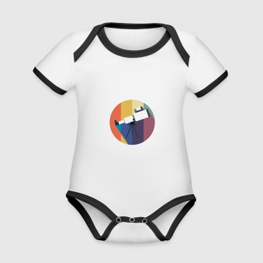 Vintage gift for Astronomy Lovers - Organic Baby Contrasting Bodysuit