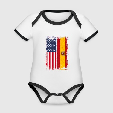 USA Spain Friendship american vintage - Organic Baby Contrasting Bodysuit
