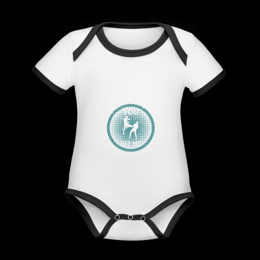 Kickboxing / MMA funny shirt Motivating hit harder - Organic Baby Contrasting Bodysuit