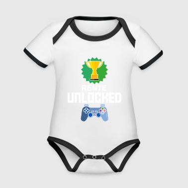 Level Unlocked pension gamer gift gaming - Organic Baby Contrasting Bodysuit