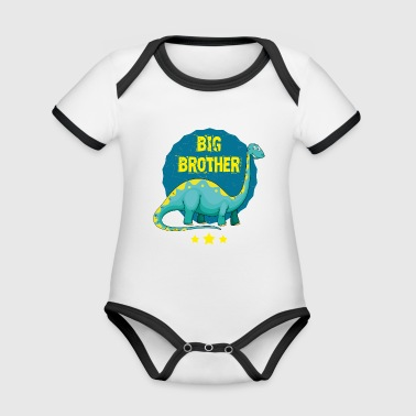 Big Brother Syskon Brother 2018 T-shirt - Ekologisk kontrastfärgad kortärmad babybody
