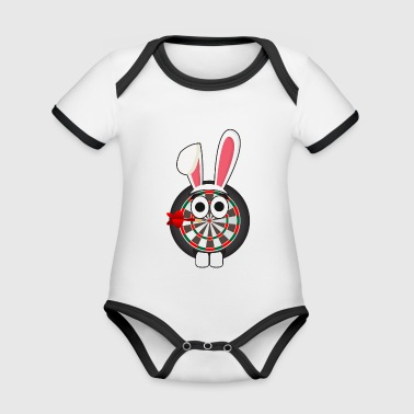 Darts darts easter bunny easter gift bunny - Organic Baby Contrasting Bodysuit