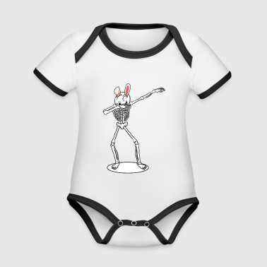 Dabbing Skeleton Dab Easter Easter Bunny Gift - Organic Baby Contrasting Bodysuit