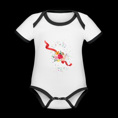 Bride Squad JGA hen party - Organic Baby Contrasting Bodysuit