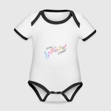 Praise the eternal - Organic Baby Contrasting Bodysuit