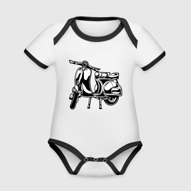 Scooter 01_black white - Organic Baby Contrasting Bodysuit