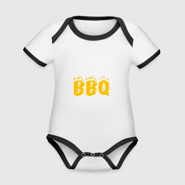 Barbecue barbecue BBQ coal Father's Day apron fire - Organic Baby Contrasting Bodysuit
