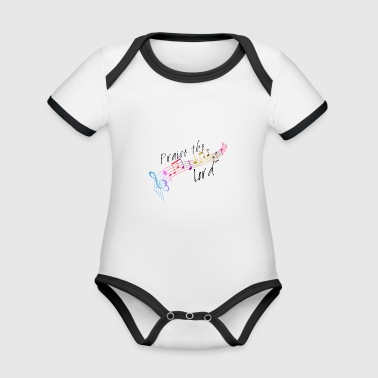 Praise the Lord - Organic Baby Contrasting Bodysuit