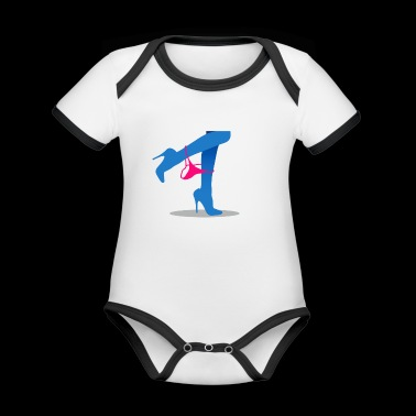 Pretty Woman's Legs With A Thong - Organic Baby Contrasting Bodysuit