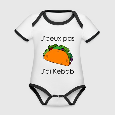 I can not I have kebab - Organic Baby Contrasting Bodysuit