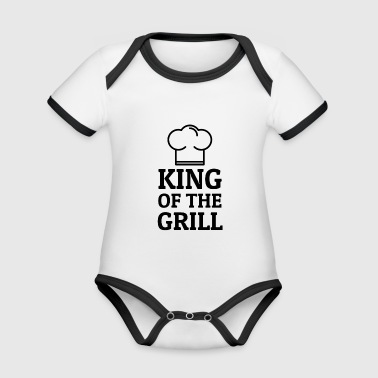King of the Grill - Organic Baby Contrasting Bodysuit
