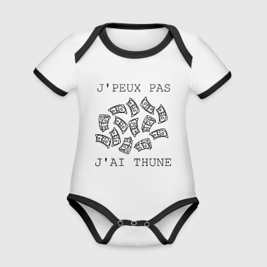 I can not have Thune - Organic Baby Contrasting Bodysuit