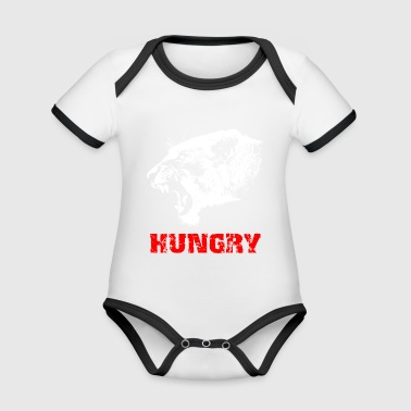 Lion - hungry - Organic Baby Contrasting Bodysuit