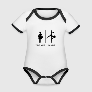 Your Aunt I My Aunt, black - Organic Baby Contrasting Bodysuit