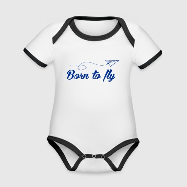 Born to fly - Organic Baby Contrasting Bodysuit