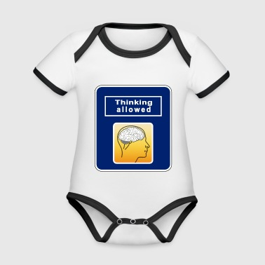 Thinking Allowed - Organic Baby Contrasting Bodysuit