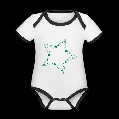 Stars in the star - Organic Baby Contrasting Bodysuit