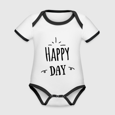 Happy day - Organic Baby Contrasting Bodysuit
