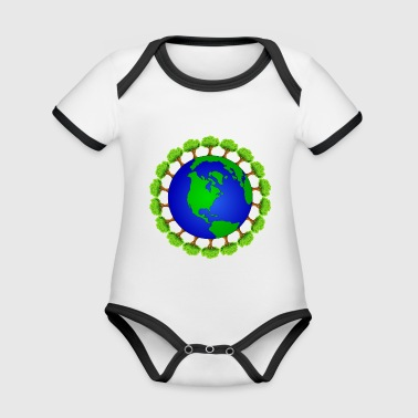 earth - Organic Baby Contrasting Bodysuit