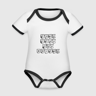 Long live the spring design - Organic Baby Contrasting Bodysuit