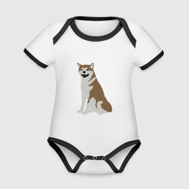 Dog Puppy Dog Drawing Animal Heart Naughty - Organic Baby Contrasting Bodysuit