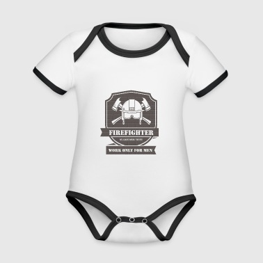Firefighter - Organic Baby Contrasting Bodysuit