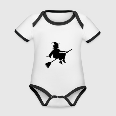 A witch: P - Organic Baby Contrasting Bodysuit