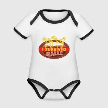 I Survived Malle - Malle Survivor T-shirt - Organic Baby Contrasting Bodysuit