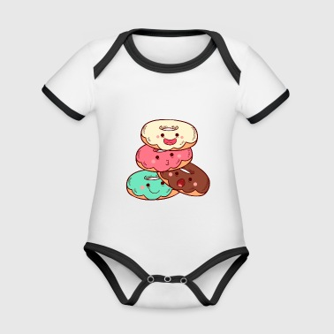 sweet donuts - Organic Baby Contrasting Bodysuit
