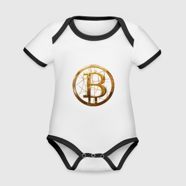 Bitcoin - Organic Baby Contrasting Bodysuit