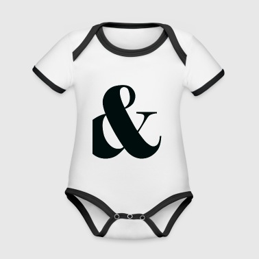 and, plus, punctuation, - Organic Baby Contrasting Bodysuit