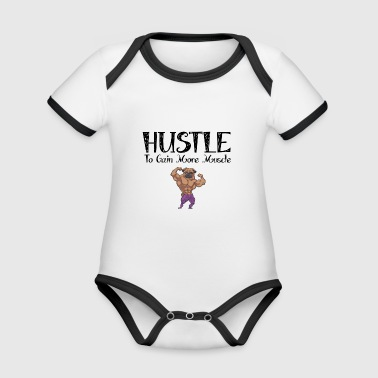 Pug muscle - Organic Baby Contrasting Bodysuit