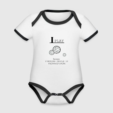 Volleyball, beach volleyball, volleyball girls - Organic Baby Contrasting Bodysuit