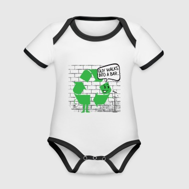 43 GUYS WALK INTO A BAR - Organic Baby Contrasting Bodysuit