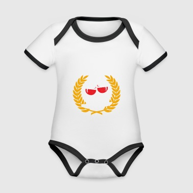Funny Wine Athlete T-shirt - Organic Baby Contrasting Bodysuit